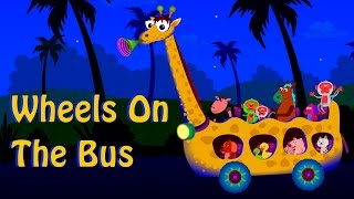 wheels on the bus go round and round nursery rhyme collection children song