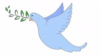 Как нарисовать летящего голубя: инструкция от EvriKak