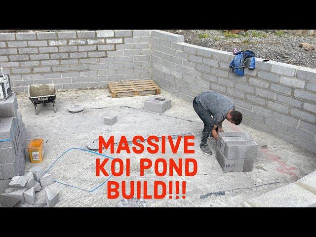 MASSIVE KOI POND BUILD PT1!!!