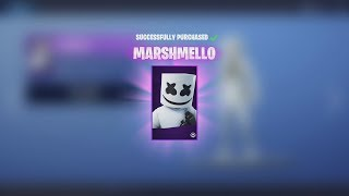 Spending 3,000 V-Bucks NEW EPIC 'MARSHMELLO' SET! & NEW Music Dance (Fortnite)