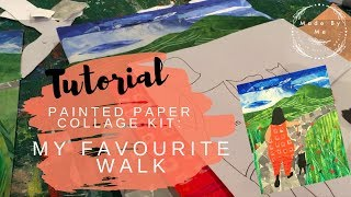 Made by Me | Painted Paper Collage | 'My Favourite Walk' | Creative Kits for Adults