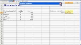 La RECHERCHEV sous Excel