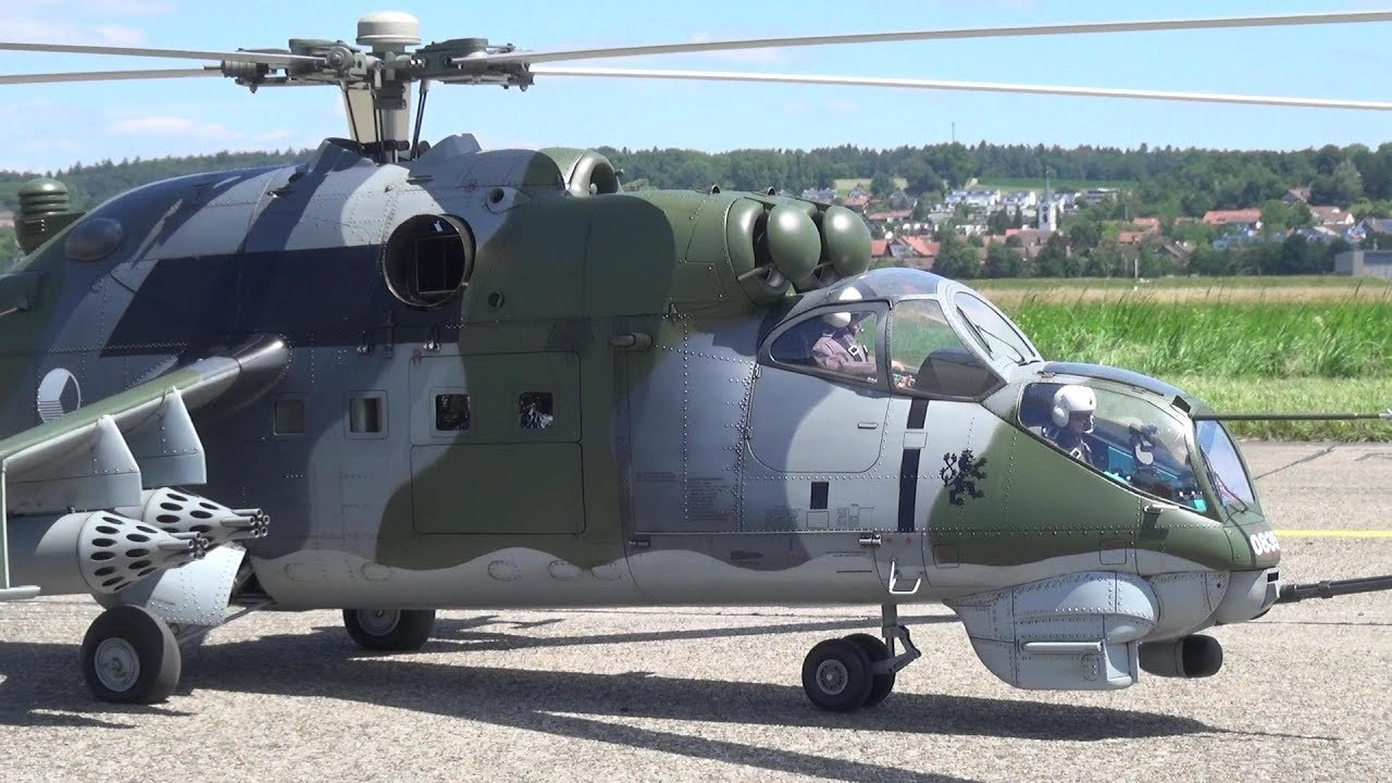 MIL MI-24 Миль Ми-24 RC SCALE TURBINE HELICOPTER