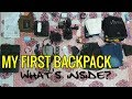 What is inside in my first backpack ???