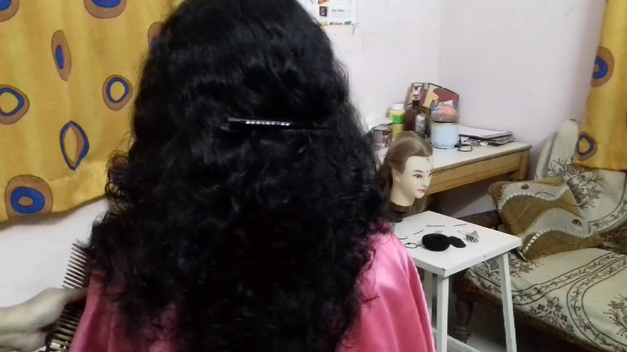 step cutting for curly hair /step with u hair cut