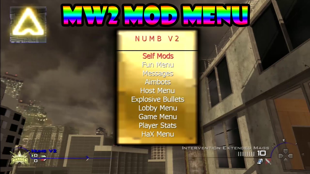 Mw2 pkg mod menu