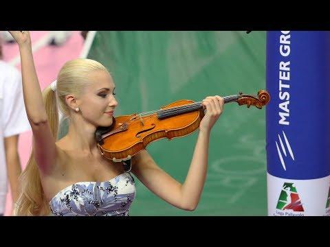 Anastasiya Petryshak - Inno di Mameli, finale di Supercoppa Italiana [Violino]