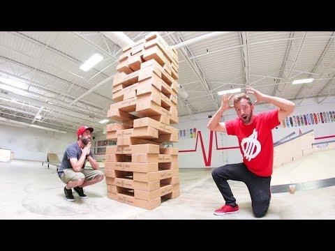 Game of LIFE SIZE JENGA! / World's Largest!?