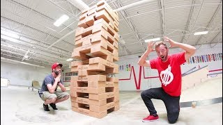 Game of LIFE SIZE JENGA! / World's Largest!?