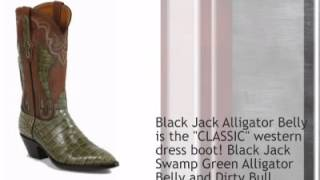 Black Jack Alligator Belly Distresed Goat Shaft Cowboy Boot - Timsboots.com