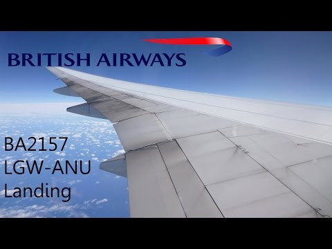 British Airways Boeing 777 G-VIIR Landing in Antigua
