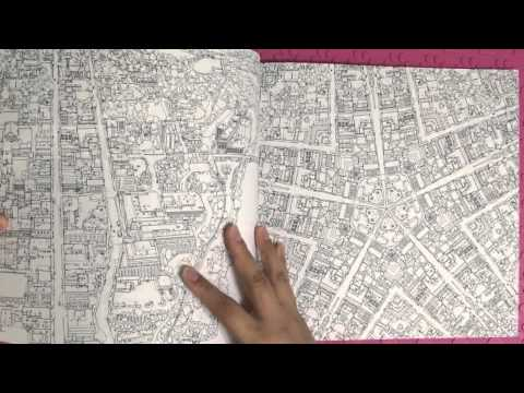 Preview Fantastic Cities Coloring Book Illustrated By
