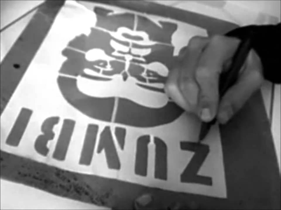Excepcional Graffiti Stencil - Arte para todos - Grafite Cidadão - Viva o povo  CI22