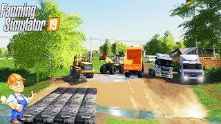 [РП] СТРОИТЕЛЬСТВО НОВОГО МОСТА В FARMING  SIMULATOR 19