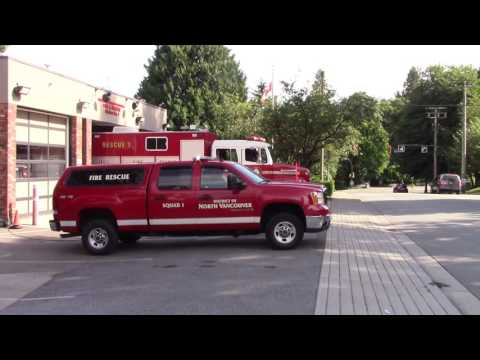 *Rare* North Van District Fire Squad 1 & Rescue 1 Responding
