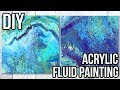 DIY DOLLAR STORE ART! HOW TO: Acrylic Fluid Painting! Flip Cup Technique