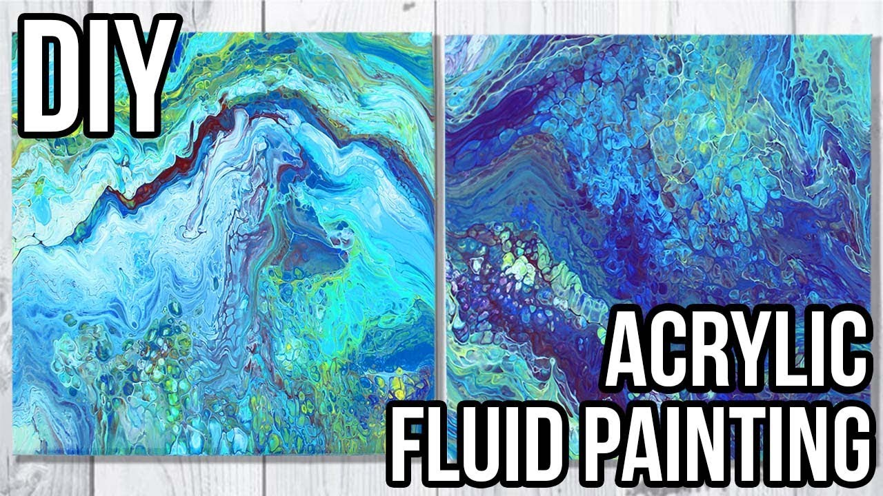 Diy Dollar Store Art How To Acrylic Fluid Painting Flip Cup Technique Youtube
