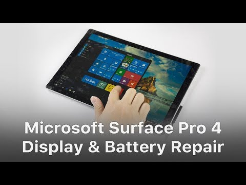 microsoft surface pro 4 display battery replacement youtube rh youtube com Microsoft Surface Pro 2 Case Microsoft Surface and 4G