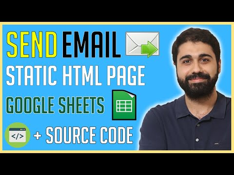 How To Send An Email From A Static HTML Page Using Google Sheets Script | Create A Contact Form