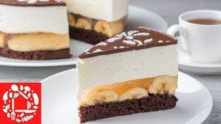 """Вы полюбите его с 1-ой ложки! 😍👍 Безумно вкусный торт """"Шальной банан"""""""