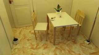 DIY DOLLHOUSE FURNITURE  MINIATURE CHAIR AND TABLE | MEMBUAT MEJA KURSI BONEKA BARBIE