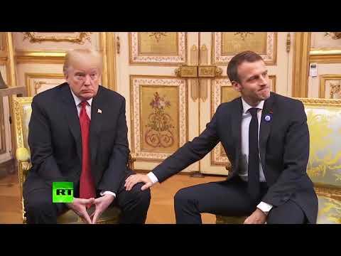 Дружба крепкая: как Макрон с Трампом встречались