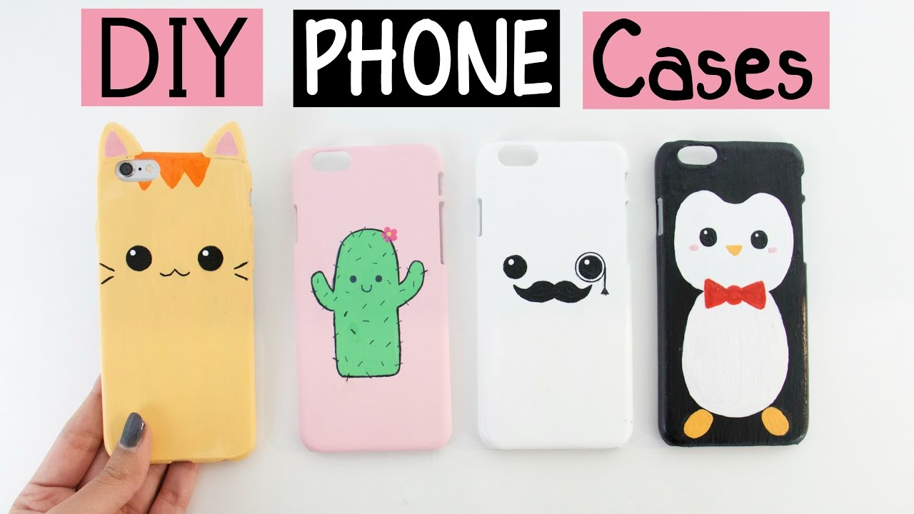 c7c39445fa DIY PHONE CASES - Four Cute & Easy Designs! - YouTube