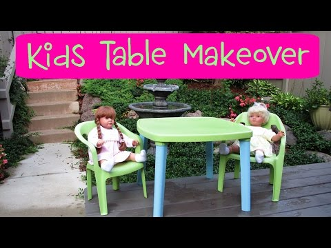 Garbage To Gorgeous ® Episode #14:  Play Table And Chair Makeover ~ Craft Klatch How To ~ Craigslist