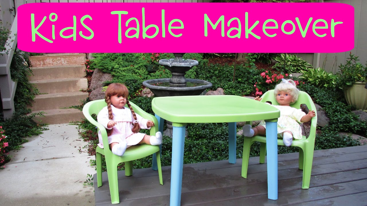 Garbage To Gorgeous Episode 14 Kids Table And Chair Makeover Craft Klatch How Craigslist