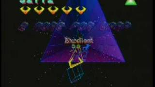 SEGA saturn Tempest 2000 Gameplay