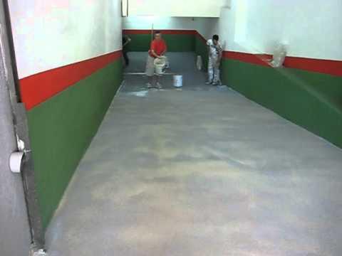 Construccion de rampara para garaje con resina epoxi youtube for Pintura para suelos de garaje