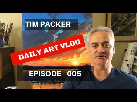 How To Start Selling Your Art - Tim Packer Daily Art Vlog - Episode 005