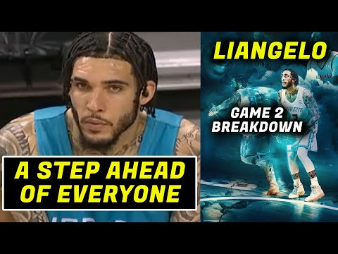 LIANGELO BALL- 2ND GAME BREAKDOWN (TEAMMATES TOO SLOW FOR HIM)