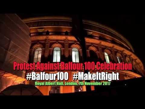 Protest Against Balfour Declaration 100 Celebration #Balfour100 [Inminds 7/11/17]