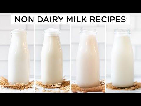 How to Make Non Dairy Milk ‣‣ 4 amazing ways!