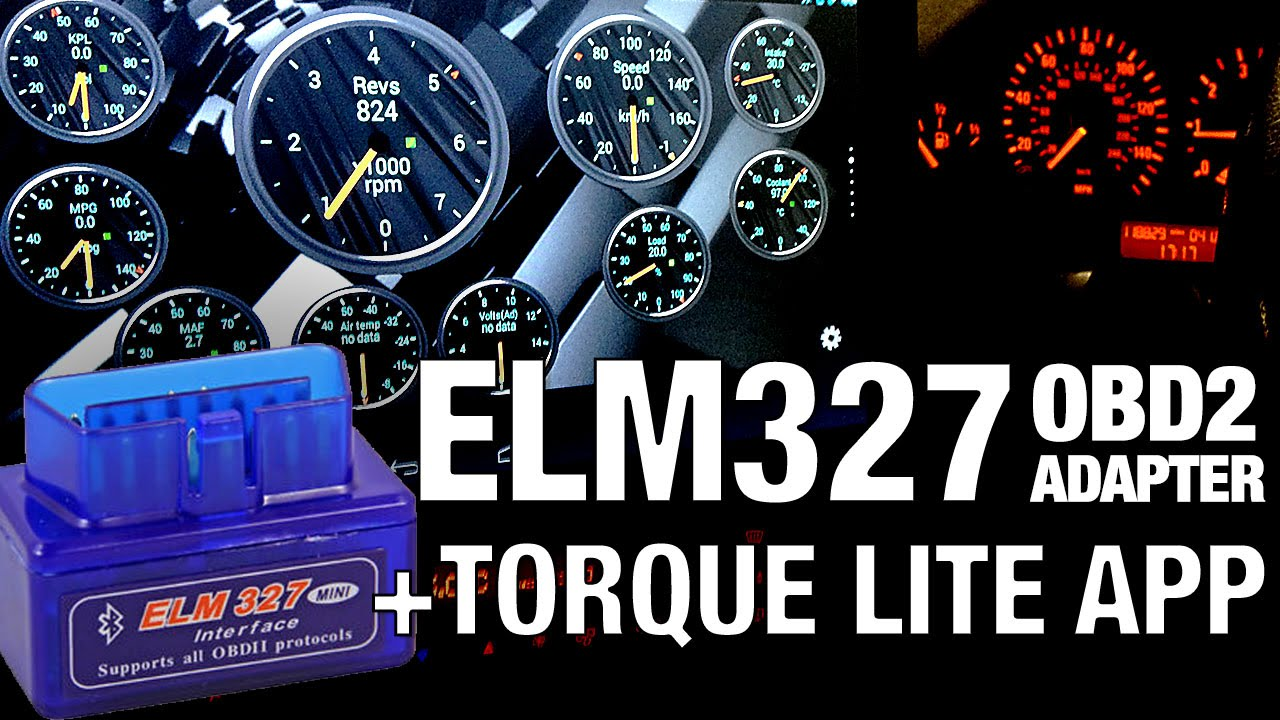 ELM327 bluetooth OBD2 adapter + TORQUE LITE APP overview