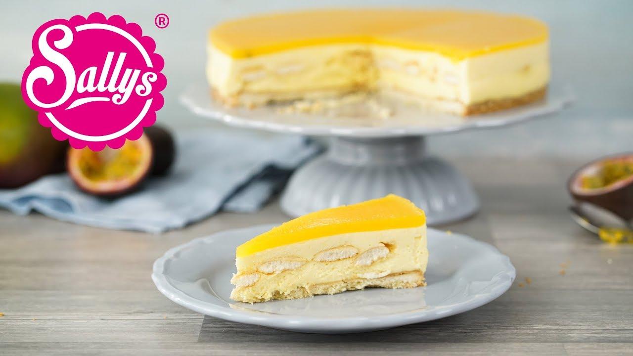 Mango Passionsfruchttorte Mit Weisser Schokoladenmousse Youtube Mit Bildern Leckere Torten Kuchen Und Torten Schokoladenmousse