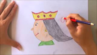 How to draw queen with letter q | The alphabet song