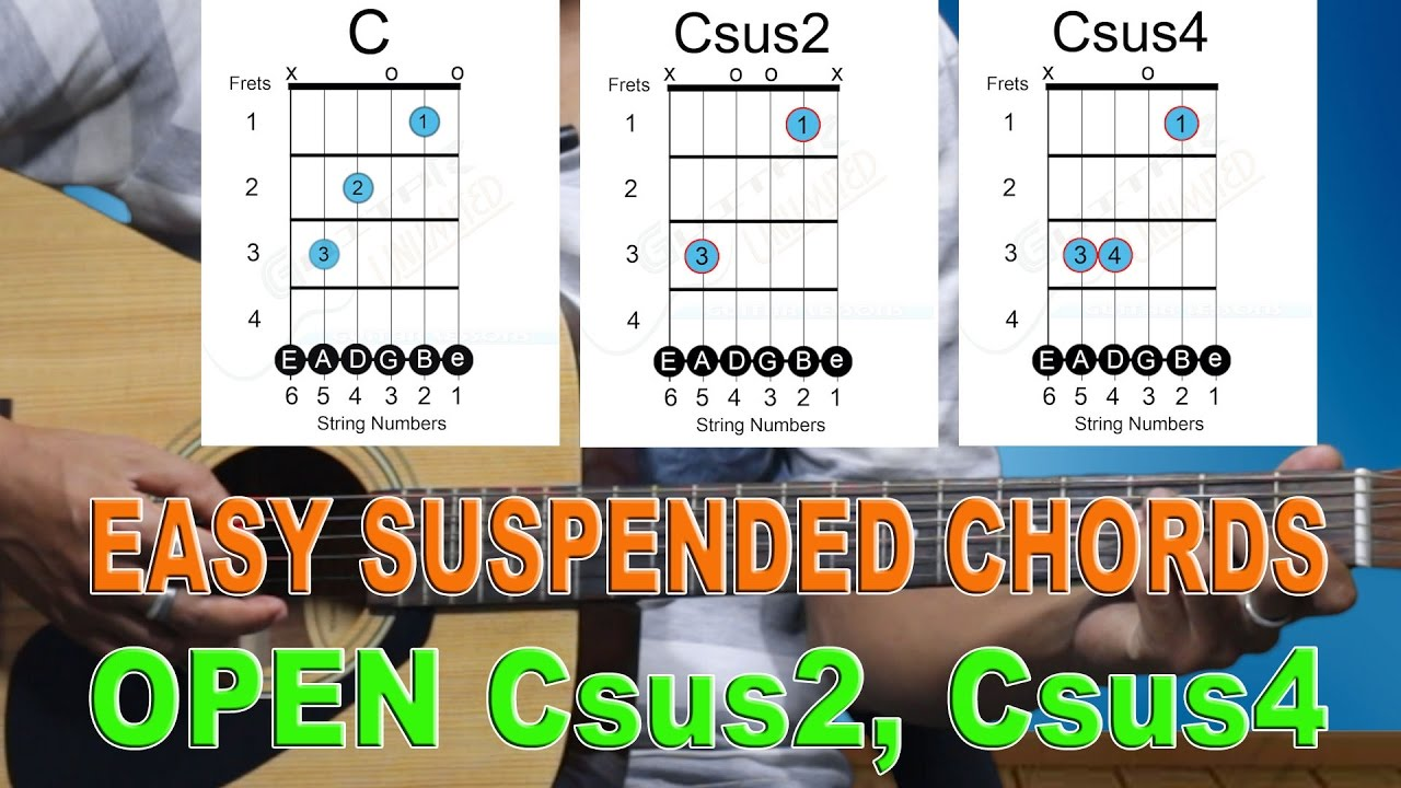 Open csus2 csus4 chords easy beginner guitar lesson 16 youtube open csus2 csus4 chords easy beginner guitar lesson 16 hexwebz Image collections