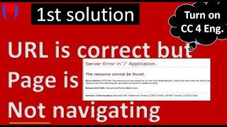 Server Error in App Resource Can't be found, URL is correct but href is not working in .net