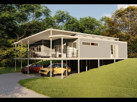 2 Bedroom + 1 Extra Room, Shipping Container Home in QLD Aus