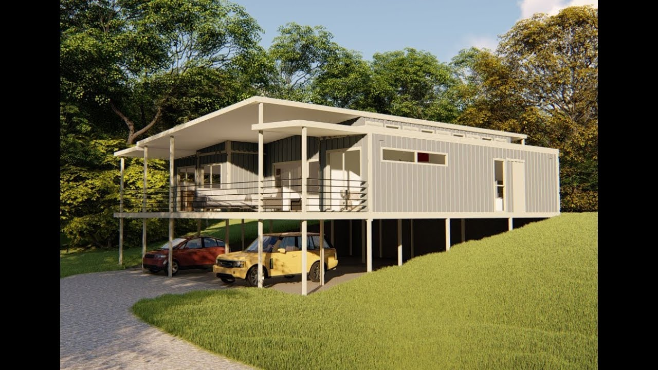2 Bedroom 1 Extra Room Shipping Container Home In Qld
