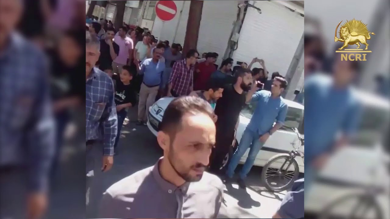 Iran Protests, August 13, 2018. Shoe makers' uprisings spread to Mashhad