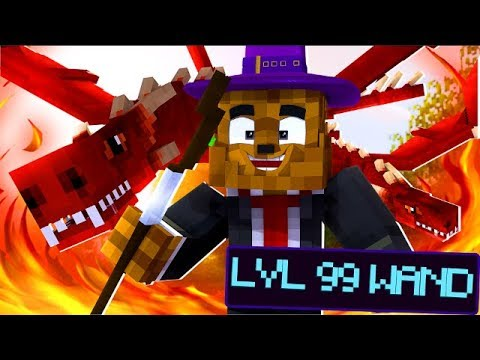 SAVING THE MAGIC WORLD (MAGIC WANDS, SPELLS, WIZARDS) - MINECRAFT WIZARDS VS DRAGONS #1