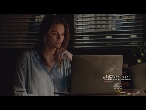 "Castle 7x21 End Scene ""In Plane Sight""  Castle and Alexis  Solve th Case, Beckett  Relieved"