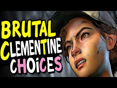 The Walking Dead Season 4 Episode 2 - BRUTAL CHOICES - For Savage Clementine Bad Ending