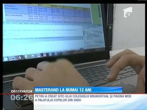 Petru, cel mai tânăr web designer din România