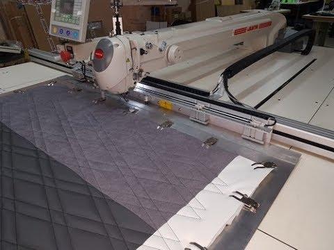 видео: Широкоформатная швейная машина циклической программируемой строчки Juita K8 (1500x1100)