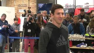 Messi opening Adidas store in Barcelona