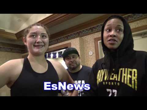 female fighters meet seconds after exchanging blows in ring - EsNews Boxing